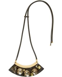 Marni - Black And Green Strass Necklace - Lyst
