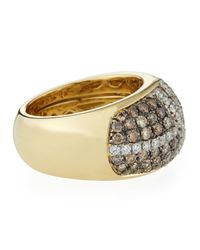 Roberto Coin - Metallic Fantasia Looping Pav Diamond Ring Size 65 - Lyst