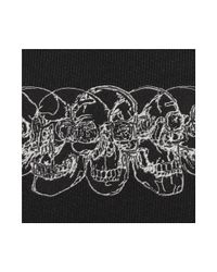 Alexander McQueen Black Woven Silk Tie for men