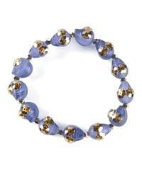 Shebee - Blue Skull Bracelet - Lyst