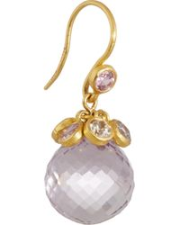 Marie-hélène De Taillac - Purple 22-Karat Gold, Amethyst And Sapphire Drop Earrings - Lyst