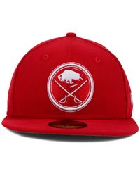 KTZ - Red Buffalo Sabres C-dub 59fifty Cap for Men - Lyst