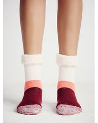 Free People | Orange Womens Fireside Slipper Sock | Lyst