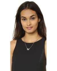 kate spade new york | Metallic All A Flutter Mini Pendant Necklace  | Lyst