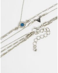 ASOS Metallic Fine Eye Rosary Choker Necklace