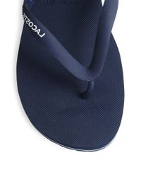 Lacoste - Red Thong Flip Flops for Men - Lyst
