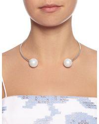 Maria Stern | Metallic Silver Imitation Pearl Choker | Lyst