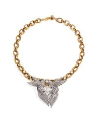 Lulu Frost | Metallic *new* Birds Of A Feather Statement Necklace | Lyst