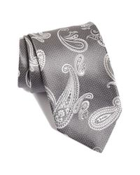 David Donahue - Gray Paisley Silk Tie for Men - Lyst