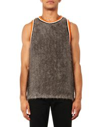 Givenchy Gray Angora Basketball Vest Top for men