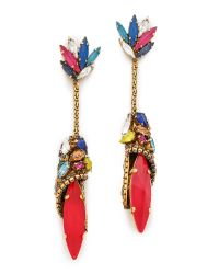 Erickson Beamon | White 'velocity' Crystal Drop Earrings | Lyst