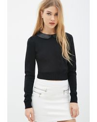 Forever 21 Black Peter Pan Collar Sweater You've Been Added To The Waitlist