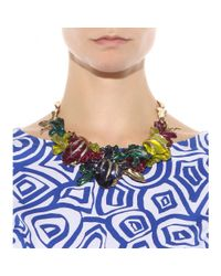 Oscar de la Renta | Metallic Crystal-embellished Necklace | Lyst
