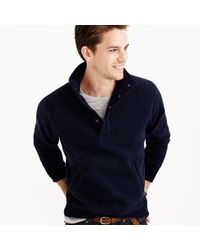 J.Crew | Blue Summit Fleece Mockneck Pullover Jacket for Men | Lyst