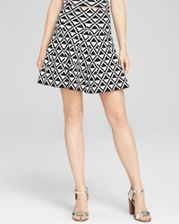 Trina Turk Black Skirt - Chalice Diamond Print