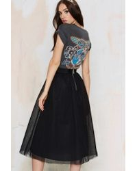 Nasty Gal Black Get Into The Groove Tulle Skirt
