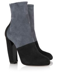 Pierre Hardy Gray Two-tone Suede Ankle Boots