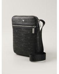 3bd68b18cb Lyst - Armani Jeans Logo Print Messenger Bag in Black for Men