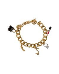 Juicy Couture - Metallic Charm Gifting Glamour Girl Charm Bracelet - Lyst