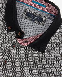 Ted Baker | Black Printed Polo Shirt for Men | Lyst
