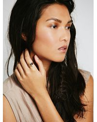 Free People | Purple Moon And Back Ring | Lyst
