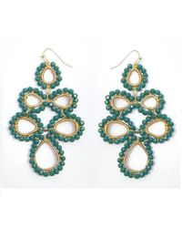 Nakamol - Multicolor Corona Earrings-(small)emerald - Lyst