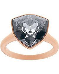 Swarovski - Black Brief Ring - Lyst
