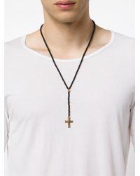 Roman Paul | Black Crucifix Pendant Necklace for Men | Lyst