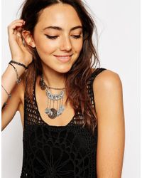 ASOS | Metallic Coin Charm Choker Necklace | Lyst