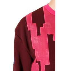 KENZO Pink Wool Twill & Techno Jersey Sweatshirt for men