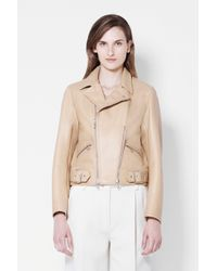 3.1 Phillip Lim - Natural Sculpted Motorcycle Jacket - Lyst