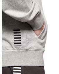 EA7 Gray Cotton Sweatshirt & Jogging Pants
