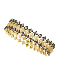 Freida Rothman | Metallic Diamond Shaped Cz Stackable Bangles | Lyst