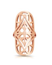 Carbon & Hyde | Metallic Geometric Shield Ring | Lyst