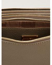 Emporio Armani - Gray Zipped Clutch Bag - Lyst
