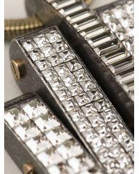 Lanvin - Metallic Embellished Necklace - Lyst