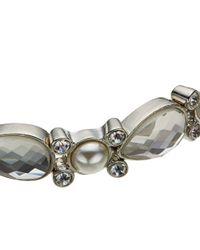 John Lewis - Metallic Faux Pearl Stone Stretch Bracelet - Lyst