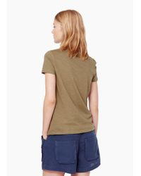 Mango | Natural V-neck T-shirt | Lyst