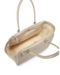 Kate Spade | Natural Holland Leather Satchel Bag | Lyst