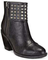 Rialto | Black Mae Studded Casual Booties | Lyst
