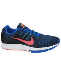 Nike Blue Air Zoom Structure 18 Running Shoes for men