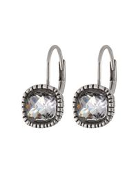The Sak - Metallic Cushion Stone Leverback Earrings - Lyst