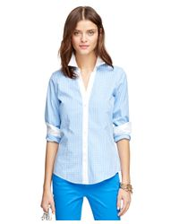 Brooks Brothers | Blue Non-iron Fitted Check Dress Shirt | Lyst