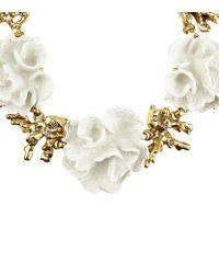 Oscar de la Renta White Coral Cluster Necklace