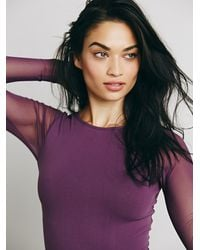 Free People | Purple Intimately Womens Mesh Low Back Layering | Lyst