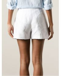 MSGM White Flared Tailored Shorts