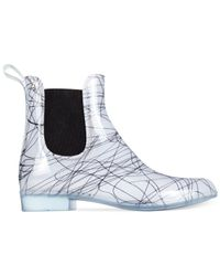 French Connection | White Nevis Short Rain Booties | Lyst