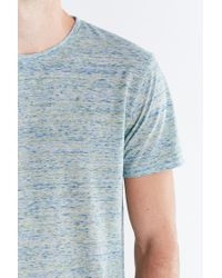 BDG Blue Galaxy Standard-fit Crew Neck Tee for men