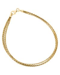 Unbranded Metallic 9Ct Yellow Gold Three Plait Bracelet