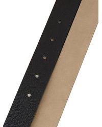 Burberry Brit - Black Military-Buckle Leather Belt for Men - Lyst